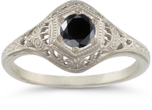 Antiqued black diamond jewelry