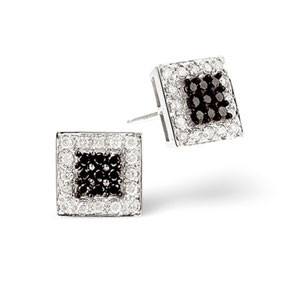 Beautiful black diamond studs