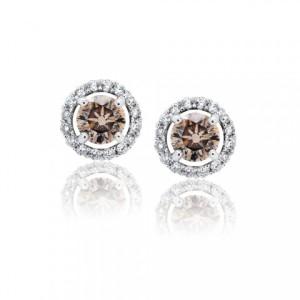 Cute chocolate diamonds earrings