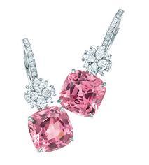 Cute pink diamond earrings