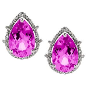Double pink diamond earrings