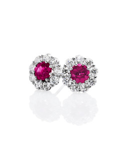 Fine pink diamond earrings