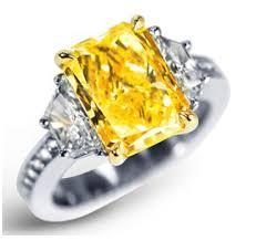 Glowing canary diamond
