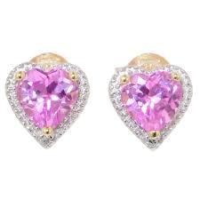 Hearty pink diamond earrings