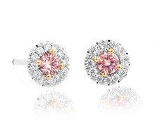 Jolly pink diamond earrings
