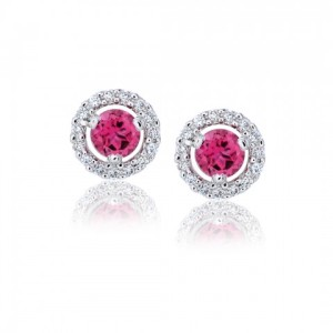 Nice pink diamond earrings