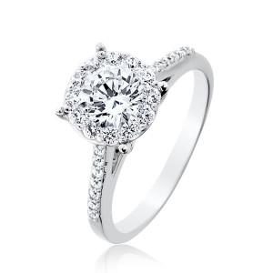 Pure diamond ring settings