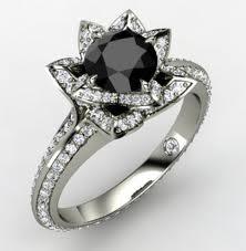 Rare and unique black diamond engagement rings