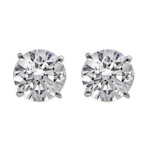 Shiny diamond studs earrings