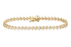 Sparkling gold diamond tennis bracelet