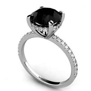 Special black diamond engagement rings for women