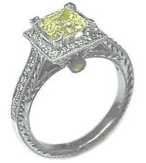 Special canary diamond engagement rings