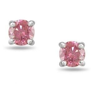 Special pink diamond earrings