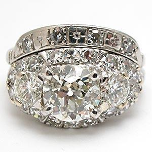 antique European cut diamond rings