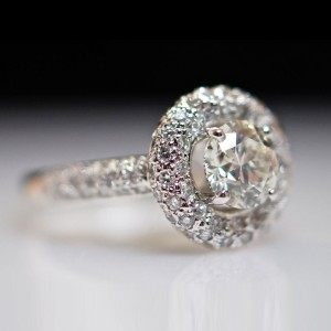 antique diamond unity engagement rings