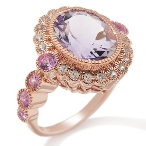 antique engagement rings rose gold