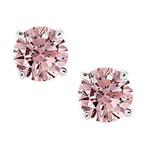 beautiful pink diamond earrings