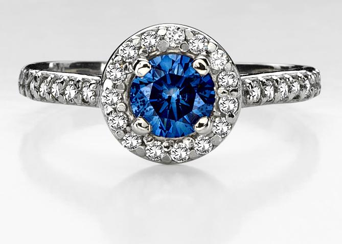 best natural blue diamond rings - Blue Diamond Wedding Rings