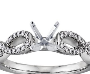 best wedding band and infinity engagement ring