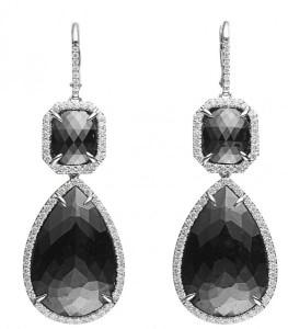 cute black diamonds earrings for women