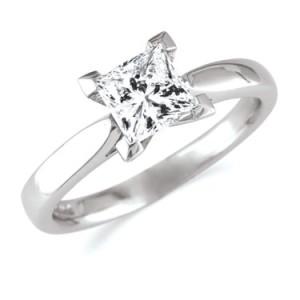 cute princess cut diamond rings
