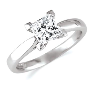 Cute Princess Cut Diamond Rings