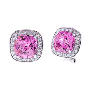 different shapes of pink diamond earrings studs