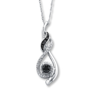 elegant black diamond necklace