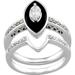 elegant black diamond wedding rings