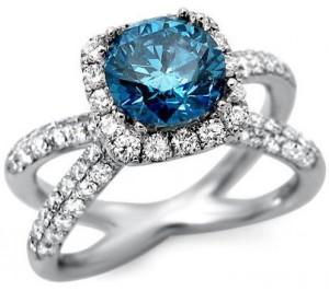 elegant blue diamond rings
