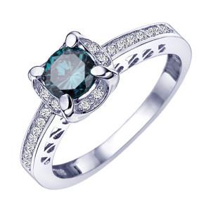 elegant blue diamond wedding rings