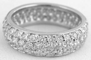 elegant diamond eternity rings