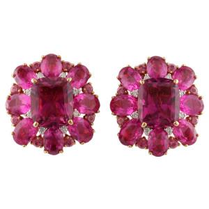 elegant pink diamond earrings