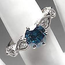 fine blue diamond rings for women