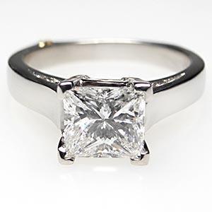 genuine princess cut diamond wedding rings