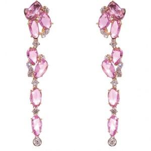 international pink diamond earrings