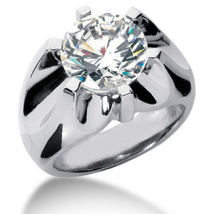 large mens diamond solitaire rings