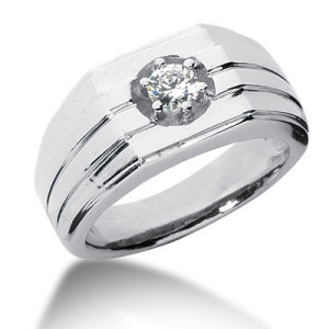 mens diamond rings solitaire