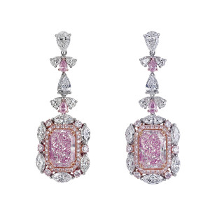 real and pretty pink diamond earrings