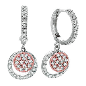 sophisticated and trendy pink diamond earrings
