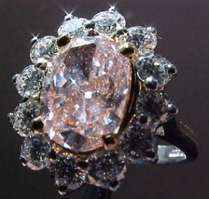 sophisticated pink diamond engagement ring