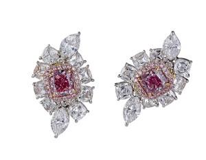 stunning pink diamond earrings
