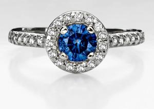 stylish blue diamond