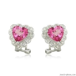 unique pink diamond earrings