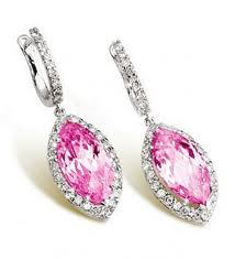 wonderful set of pink diamond earrings