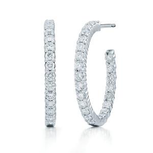 best stylish diamond hoop earrings