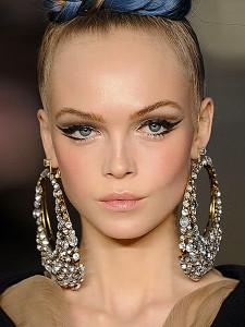 big crystal hoop earrings