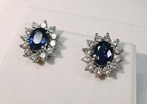 blue sapphire gem earrings