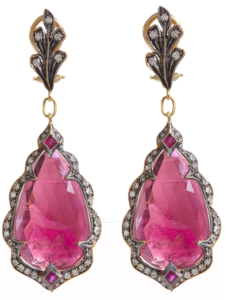 cathy Waterman pink diamond earrings