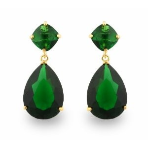 elegant emerald drop earrings